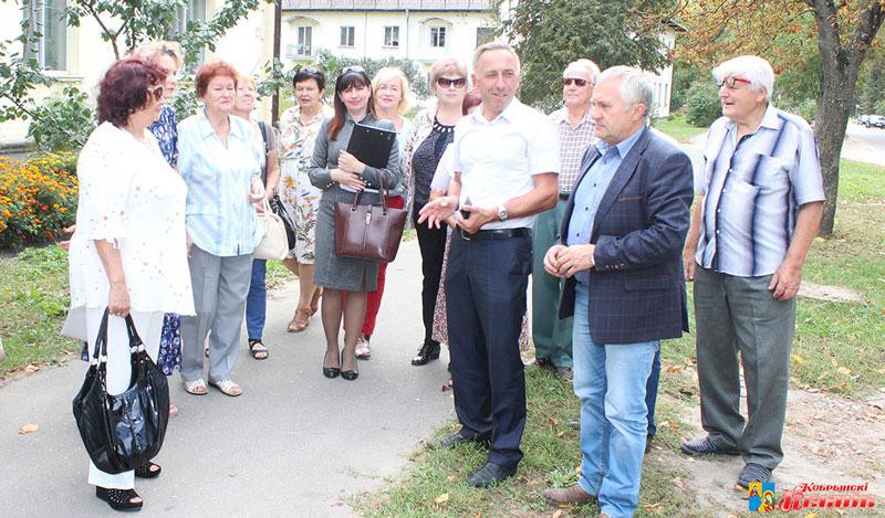 участники семинара на улице Настасича в Кобрине