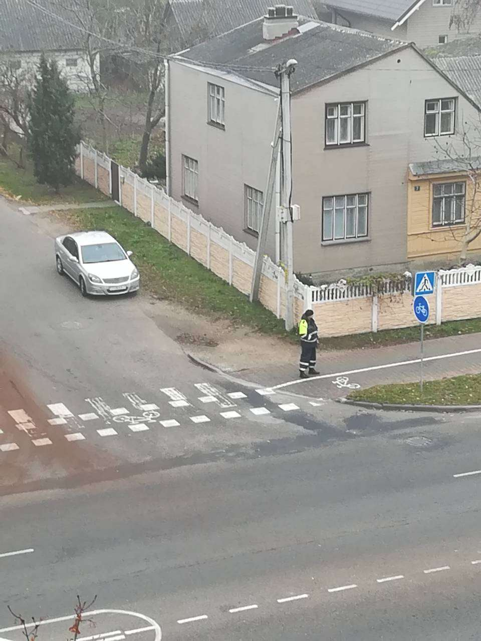 ДТП в Кобрине с участием автомобиля ГАИ в гражданском исполнении
