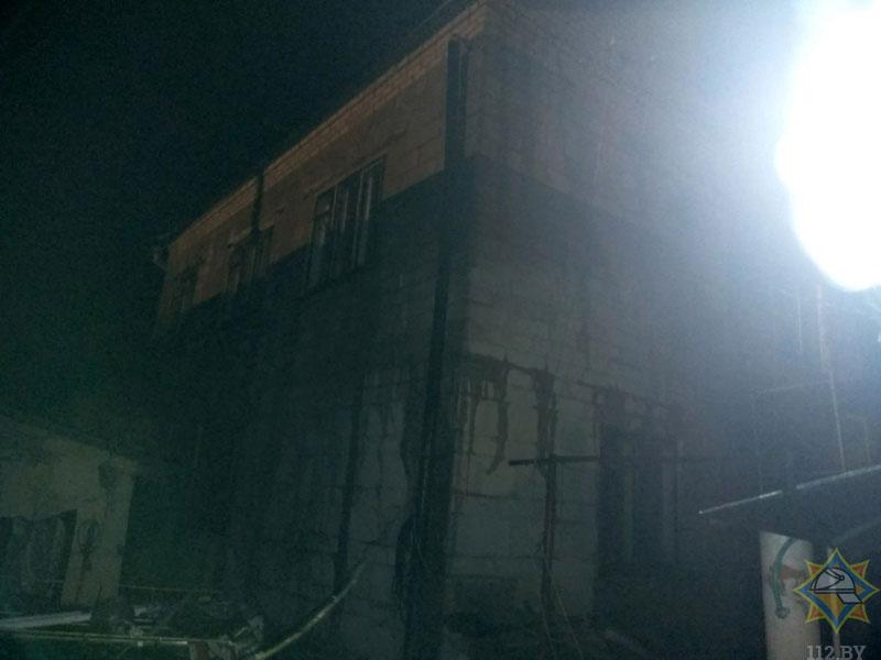 Пожар в Кобрине на Островского