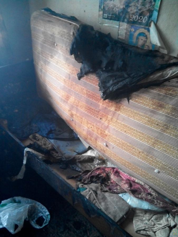 Пожар в кобрине спасли мужчину