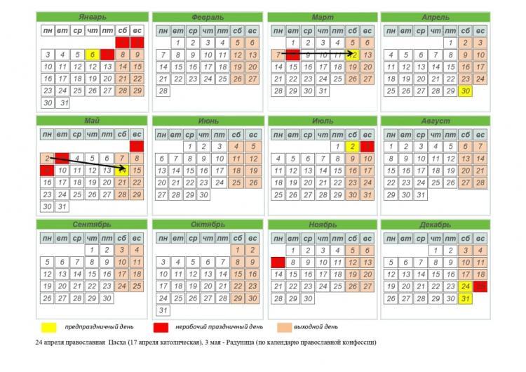 Переносы рабочих дней в 2022 году запланированы в марте и мае